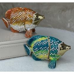 313-13 Шкатулка металич. Рыбка