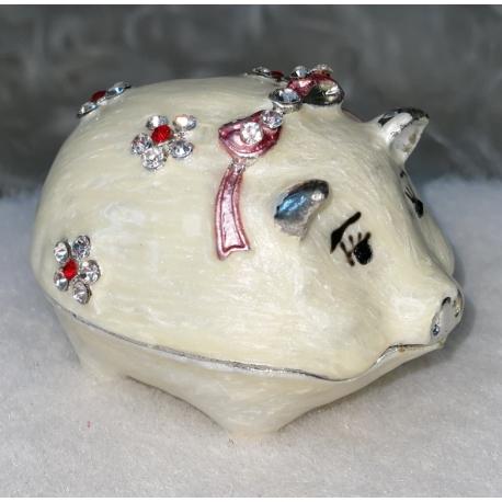 5013-2 Шкатулка металич. Свинка