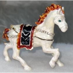 313-6 Шкатулка металич. Лошадь